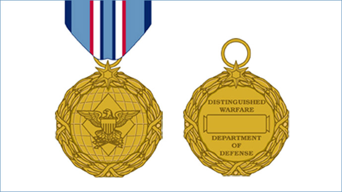 A sketch of the new Distinguished Warfare Medal, approved last month by then-Defense Secretary Leon Panetta.