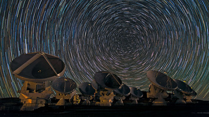 Credit: ESO/B. Tafreshi (twanight.org)The antennas of the Atacama Large Millimeter/submillimeter Array (ALMA) shine under the southern sky. Image released Dec. 31, 2012