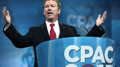 U.S. Sen. Rand Paul addresses the 40th annual Conservative Political Action Conference (CPAC) March 14, 2013 in National Harbor, Maryland. (AFP Photo / Alex Wong)
