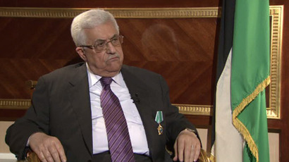 Mahmoud Abbas speaking with RT