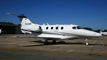 The Beechcraft Premier I, a light jet aircraft. (Image from en.wikipedia.org user@YSSYguy)