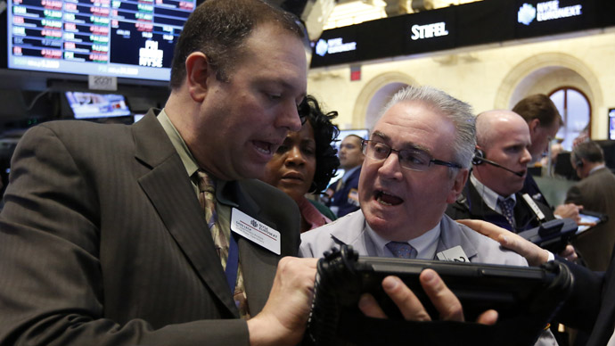 Traders work on the floor at the New York Stock Exchange (Reuters/Brendan McDermid)
