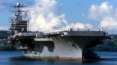 The USS Abraham Lincoln.(Reuters / Rick Wilking)