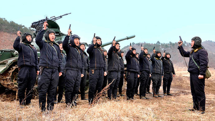 North Korean soldiers attend military drills in this picture released by the North's official KCNA news agency in Pyongyang March 20, 2013.(Reuters / KCNA)