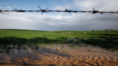 Field near the southern Israeli town of Sderot (Reuters / Amir Cohen)