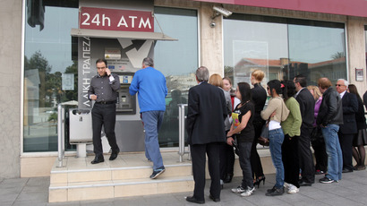 Cyprus, Troika agree to 20% tax on deposits over 100,000 euros at Bank of Cyprus