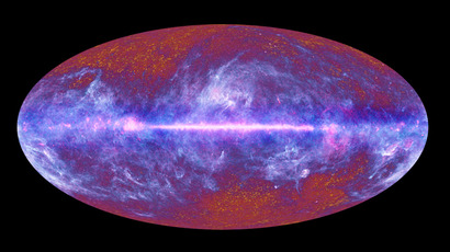 Map of relic radiation (microwave sky) from the Big Bang, composed of data gathered by ESA's Planck satellite, launched in May 2009 to study Cosmic Microwave Background (AFP Photo / ESA / LFI & HFI Consortia)
