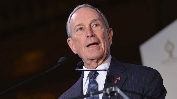 New York City Mayor Michael Bloomberg. (AFP Photo / Slaven Vlasic)