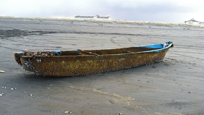 'Ghost boat' from Japan discovered on US coast