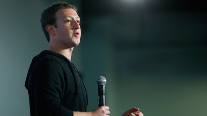 Facebook Chairman and Chief Executive Mark Zuckerber (AFP Photo / Stephen Lam)