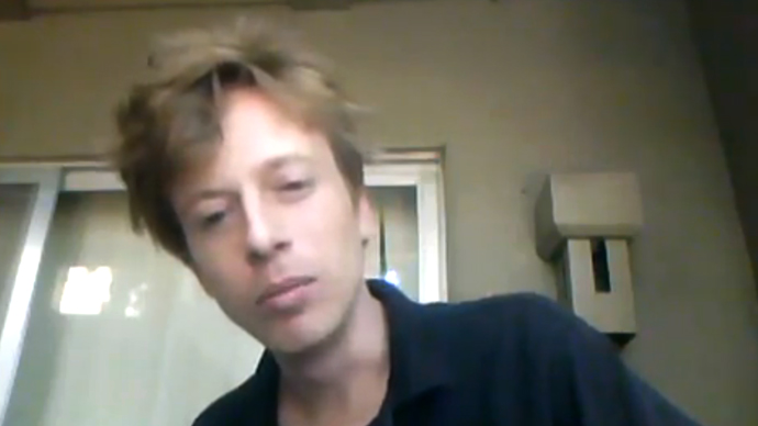 Project PM founder Barrett Brown speaks to the camera in a YouTube video uploaded before his September 12, 2012 arrest in Dallas, TX.