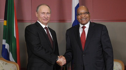 Russian President Vladimir Putin and his South African counterpart Jacob Zuma during a meeting in Durban on March 26, 2013. (RIA Novosti / Alexsey Druginyn)