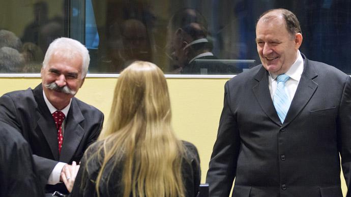 Hague tribunal jails 2 Bosnian Serb ex-officials for 22 years