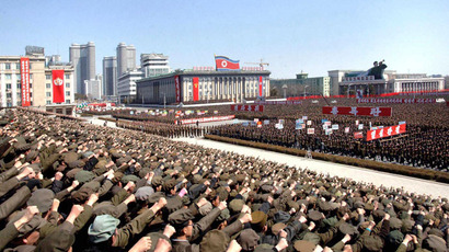 North Koreans including soldiers attend a rally in support of North Korean leader Kim Jong-un's order to put its missile units on standby in preparation for a possible war against the U.S. and South Korea, in Pyongyang March 29, 2013. (Reuters / KCNA)