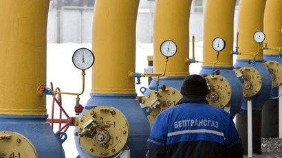"Gas compressor station ""Nesvizhskaya"", one of the five stations on the Belarussian strip of the Yamal-Europe gas-main. Last January Gazprom built up the gas transit through Belarus to Europe. (RIA Novosti/Ivan Rudnev)"
