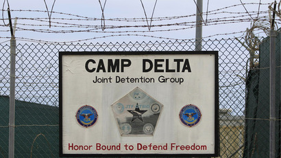 The exterior of Camp Delta is seen at the U.S. Naval Base at Guantanamo Bay, March 6, 2013. (Reuters)