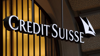 The logo of the Swiss banking giant Credit Suisse in Zurich.  (AFP Photo)