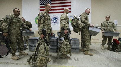 U.S. military medics in the Transit Center at the Manas U.S. Air Force base (RIA Novosti / Vladimir Pirogov)