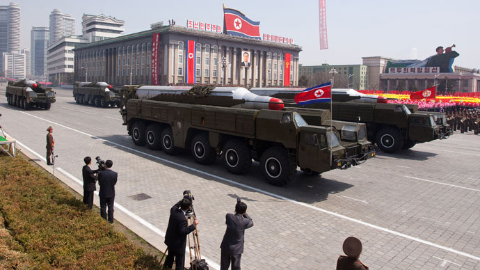 N. Korean missile launchpad moved into firing position - report