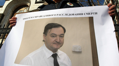 Protest against police lawlessness in Magnitsky's case. (RIA Novosti / Maxim Blinov)