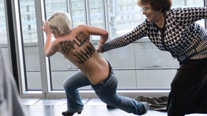Femen activists stage first Arab world stunt (PHOTOS)