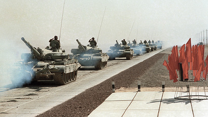 Soviet troops withdrawing from Afghanistan to the Soviet Union, 1986. (RIA Novosti / Alexandr Graschenkov)
