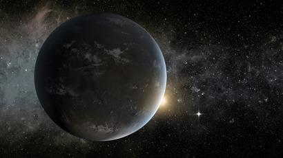This artist's concept provided by NASA April 18, 2013, depicts NASA's Kepler misssion's smallest habitable zone planet (AFP Photo / NASA)