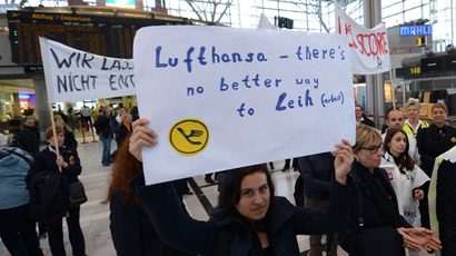 Thousands of flights canceled as Lufthansa pilots' strike
