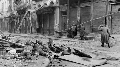 Photo taken in December 1944 in Athens. (AFP Photo)
