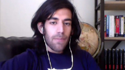Aaron Swartz.(Screenshot from RT video)
