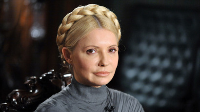 A file photo taken on February 2, 2011 shows Ukraine's former Prime Minister and leader of the opposition Yulia Tymoshenko (AFP Photo)