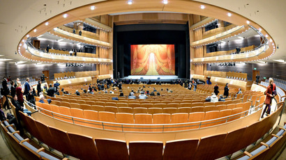 The audience hall of the Second Stage at the State Academic Mariinsky Theater in St. Petersburg. (RIA Novosti/Alexey Danichev)