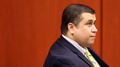 George Zimmerman, defendant in the killing of Trayvon Martin, stands in Seminole circuit court in Sanford, Florida, for a pre-trial hearing April 30, 2013.(Reuters / Joe Burbank)