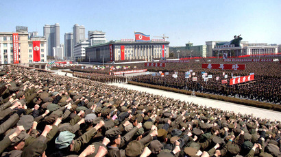 North Koreans including soldiers attend a rally in support of North Korean leader Kim Jong-un's order to put its missile units on standby in preparation for a possible war against the U.S. and South Korea, in Pyongyang March 29, 2013 (Reuters / KCNA)