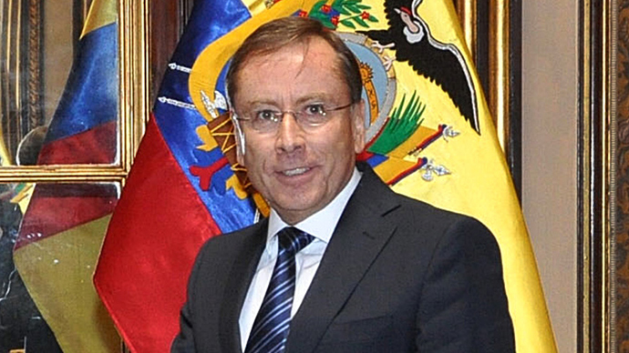Ecuadorean ambassador Rodrigo Riofrio (AFP Photo)