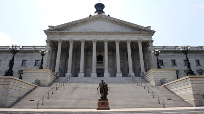 The State Capitol Building in Columbia, South Carolina (AFP Photo / Davis Turner)