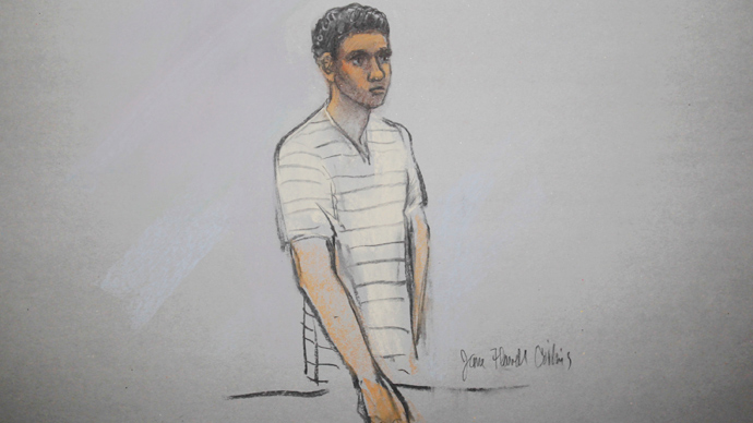 Defendant Robel Phillipos is pictured in a courtroom sketch, appearing at the John Joseph Moakley United States Federal Courthouse in Boston, Massachusetts (Reuters)
