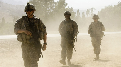 US soldiers near the village of Qol-e-Botonin the mountains of Wardak Province. (Reuters / Shamil Zhumatov)