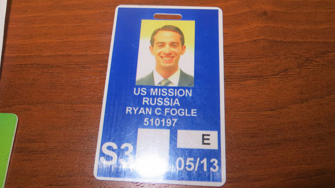 Ryan Fogle's pass to the US embassy (FSB)