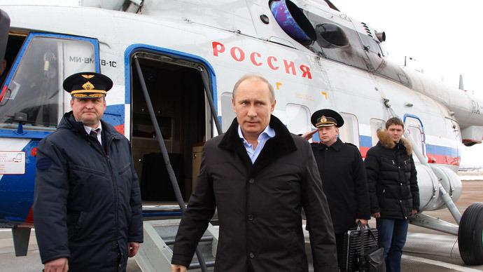 fly kremlin putin commute work chopper rt russian politics