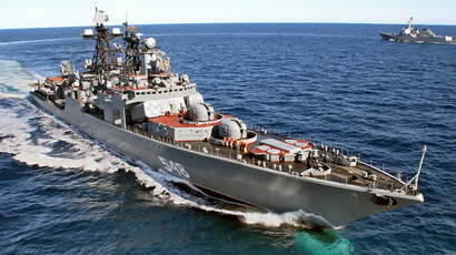 "The ""Admiral Panteleyev"" anti-submarine warfare ship of the Pacific Fleet (RIA Novosti/Vitaliy Ankov)"