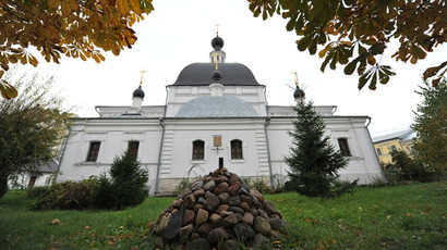 St. Nicholas Church in Pokrovsky. Vandals removed a cross in the early morning of October 4, 2012. (RIA Novosti / Ramil Sitdikov)