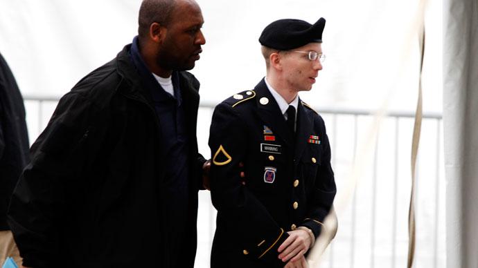 Bradley Manning (R).(Reuters / Jose Luis Magana)