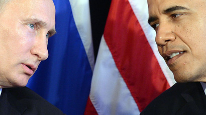 US President Barack Obama (R) listens to Russian President Vladimir Putin.(AFP Photo / Jewel Samad)