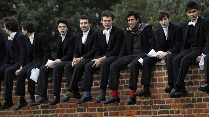 Boys from Eton college. (Reuters / Eddie Keogh)