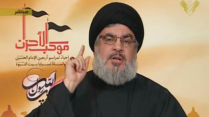Hassan Nasrallah, the head of Lebanon's militant Shiite Muslim movement Hezbollah. (AFP Photo)