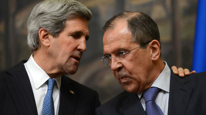 US Secretary of State John Kerry (L) and his Russian counterpart Sergei Lavrov.(AFP Photo / Kirill Kudryavtsev)