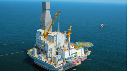 Orlan off-shore rig in the Okhotsk Sea. (RIA Novosti)