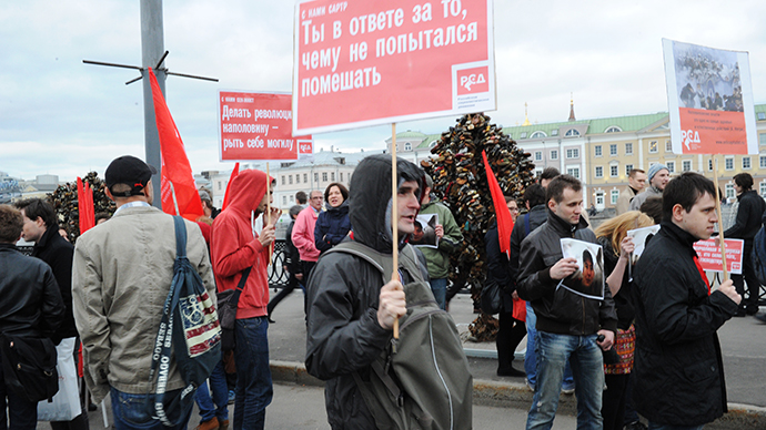 Poll: Russian protest rallies out of fashion, but not dead