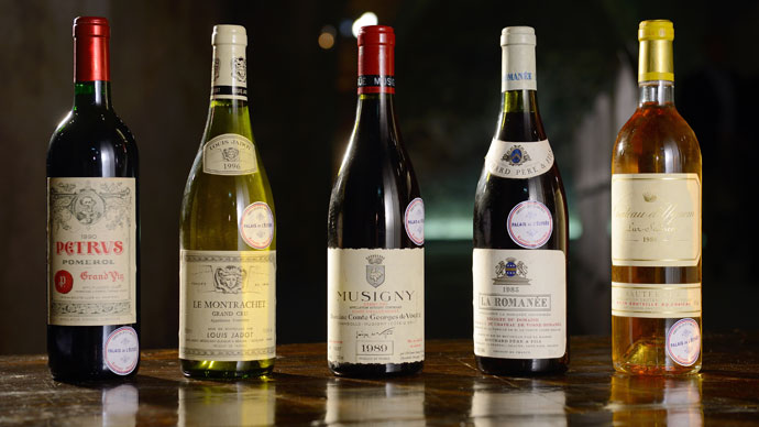 Austerity auction: Elysee Palace's wine cellar put on the block